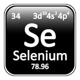 Periodic table element selenium icon. Royalty Free Stock Photo
