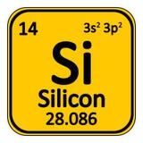 Periodic table element silicon icon. Stock Photo