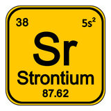 Periodic table element strontium icon. Stock Photography