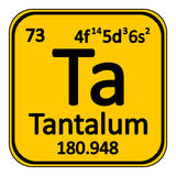 Periodic table element tantalum icon. Royalty Free Stock Images