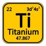 Periodic table element titanium icon. Royalty Free Stock Image