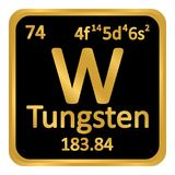 Periodic table element tungsten icon. Periodic table element tungsten icon on white background. Vector illustration Stock Images