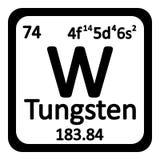 Periodic table element tungsten icon. Royalty Free Stock Photos
