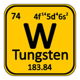 Periodic table element tungsten icon. Periodic table element tungsten icon on white background Stock Images