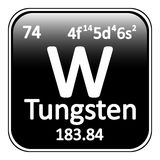 Periodic table element tungsten icon. Periodic table element tungsten icon on white background Stock Photography