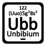 Periodic table element unbibium icon. Royalty Free Stock Images