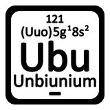 Periodic table element unbinilium icon. Royalty Free Stock Photo