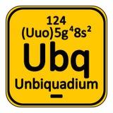 Periodic table element unbinilium icon. Stock Photo