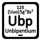 Periodic table element unbipentium icon. Royalty Free Stock Images