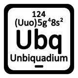 Periodic table element unbiquadium icon. Royalty Free Stock Photography