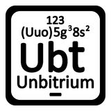 Periodic table element unbitrium icon. Stock Images