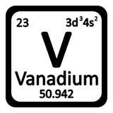 Periodic table element vanadium icon. Royalty Free Stock Images