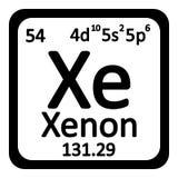 Periodic table element xenon icon. Stock Image