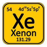 Periodic table element xenon icon. Royalty Free Stock Images