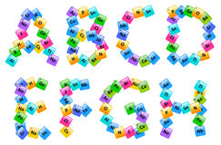 Periodic Table Of Elements Alphabet Letters Stock Photo