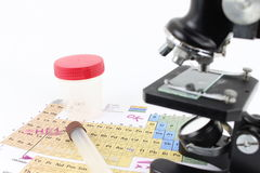 Periodic table of elements, routine check Royalty Free Stock Photography