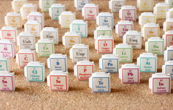 Periodic table of elements. Selective focus. science education concept Royalty Free Stock Photo