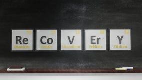Periodic table of elements symbols Royalty Free Stock Photo