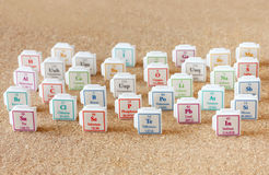 Free Periodic Table Of Elements. Selective Focus. Science Education Concept Royalty Free Stock Photo - 35649465
