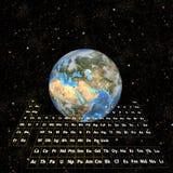 periodictable östlig halvklot för jord Arkivbilder