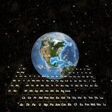 PeriodicTable - la terre dans l'hémisphère Espace-Occidental Image stock