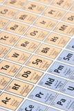 periodisk tabell Arkivbild