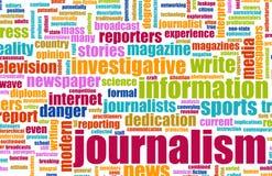 Periodismo Imagen de archivo libre de regalías
