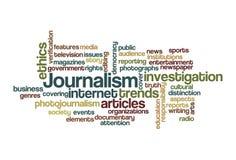 Periodismo - nube de la palabra Foto de archivo