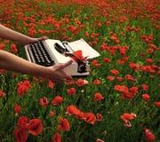 Periodismo y escritura, verano foto de archivo libre de regalías