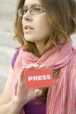 Periodista Fotos de archivo