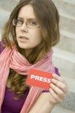 Periodista Fotografía de archivo