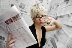 Periodista Imagen de archivo libre de regalías