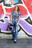 Periodista de la mujer Imágenes de archivo libres de regalías