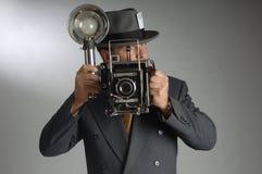 Periodista fotográfico Imagen de archivo