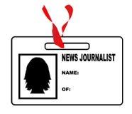 Periodista ID Card de las noticias Foto de archivo