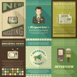 Periodista Poster Set Imágenes de archivo libres de regalías