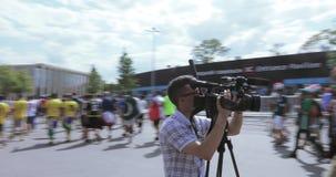 Periodista y operador entre fans metrajes
