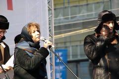 Periodista Zoya Svetova Imágenes de archivo libres de regalías