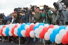 periodistas Fotos de archivo libres de regalías