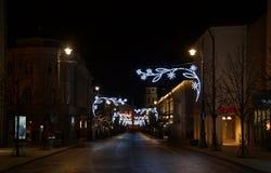 Periodo dei racconti di Natale, viale di Gediminas fotografia stock