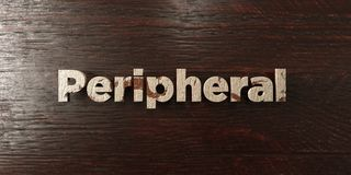 Peripheral - grungy wooden headline on Maple  - 3D rendered royalty free stock image. This image can be used for an online website banner ad or a print Royalty Free Stock Image