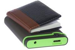 Peripheral Hard Drive and sketchpad Stock Photos