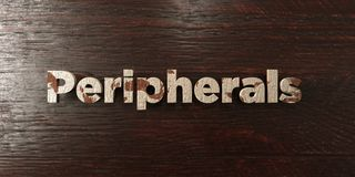 Peripherals - grungy wooden headline on Maple  - 3D rendered royalty free stock image Stock Images