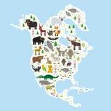 Periquito Jagu da jaritataca de Eagle do guaxinim da cabra de montanha da serpente da víbora de poço do urso polar de lobo-marinh ilustração stock