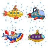 Periscope icons set, cartoon style. Periscope icons set. Cartoon set of periscope vector icons for web design royalty free illustration