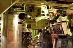 Periscopio dentro de un submarino Imagen de archivo
