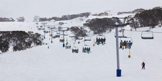 Perisher 8 chair lift pan Stock Photos