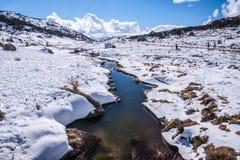 Perisher蓝色,在NSW/AUSTRALIA的雪山 免版税库存图片