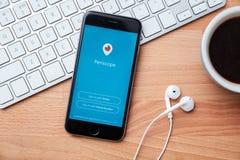 Periskopen är den levande videoen som strömmar app för iOS och Android Fotografering för Bildbyråer