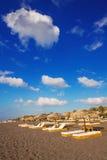 Perissa beach (Black Beach) on Santorini island Royalty Free Stock Photo
